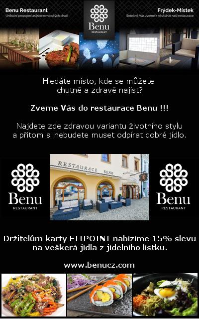Akce Benu restaurant 15 % sleva